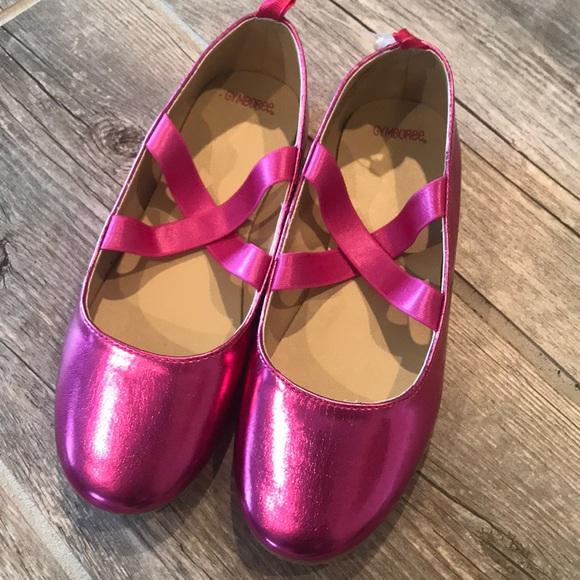 Gymboree Girls Gold /& Pink Criss-Cross Summer Sandals Toddler size 4 8 NEW